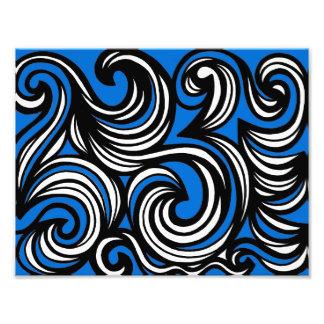 Blue White Black Abstract Photo