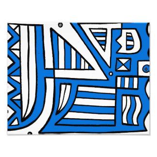 Blue White Black Abstract Photo Art