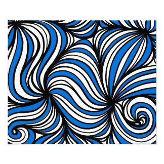 Blue White Black Abstract Art Photo