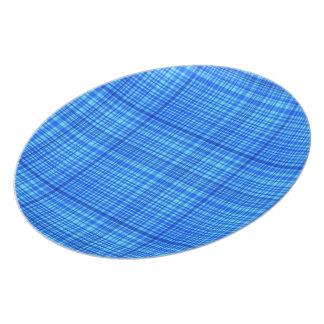 Blue & White Checked Melamine Plate