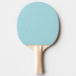 Blue White Chevron Pattern 2A Ping Pong Paddle