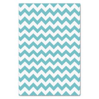 Blue & White Chevron Pattern Tissue Paper
