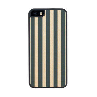 Blue & White Christmas Candy Cane Pattern Carved® Maple iPhone 5 Slim Case