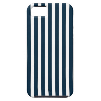 Blue & White Christmas Candy Cane Pattern iPhone 5/5S Cases