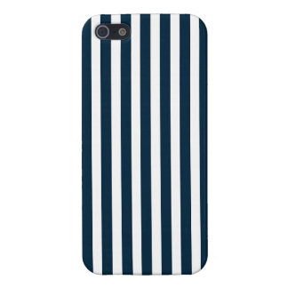 Blue & White Christmas Candy Cane Pattern Cases For iPhone 5