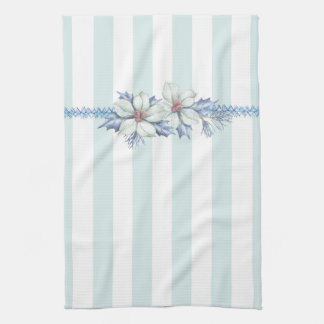 Blue & White Christmas Tea Towel