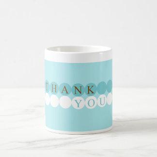 Blue & White Circles Thank You Mug