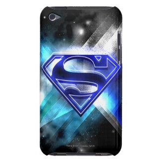 Blue-White Crystal Superman Logo iPod Case-Mate Case