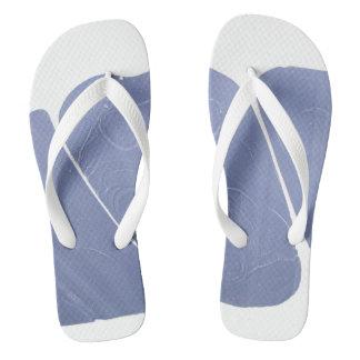 Blue-White Dreamy Marbled Flip Flops