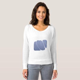Blue-White Dreamy Marbled T-Shirt