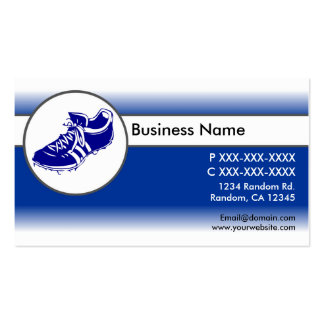 Blue white fade sports shoe business cards
