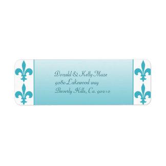 Blue & White Fleur De Lis Wedding