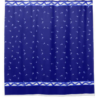 Blue & White floral Shower Curtain