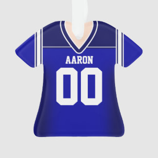 Blue/White Football Jersey Ornament