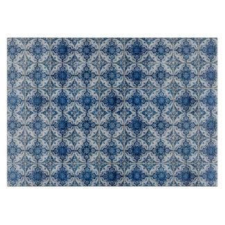 Blue & White Geometrical Tiles Chopping Boards