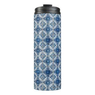 Blue & White Geometrical Tiles Tumblers