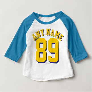 Blue White & Golden Yellow Baby | Sports Jersey Tee Shirts