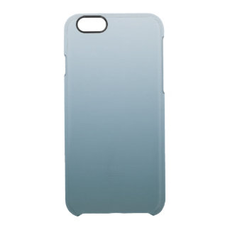 Blue White Gradient iPhone 6/6S Clear Case