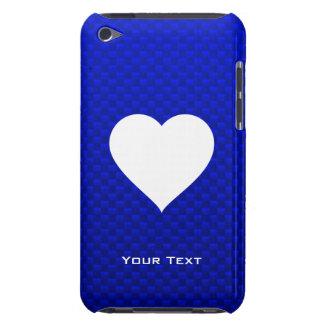 Blue White Heart iPod Case-Mate Cases
