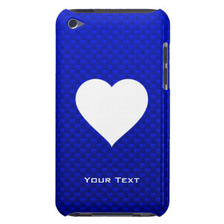 Blue White Heart iPod Case-Mate Cases
