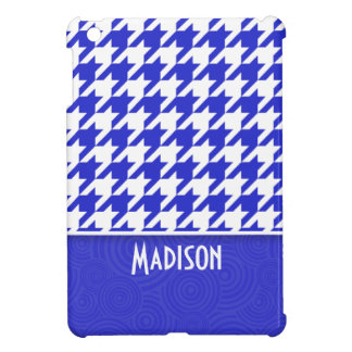 Blue & White Houndstooth; Cute Cover For The iPad Mini