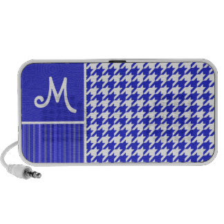 Blue White Houndstooth iPod Speakers
