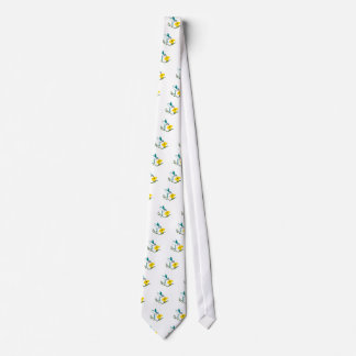 Blue & White Hummingbird Tie