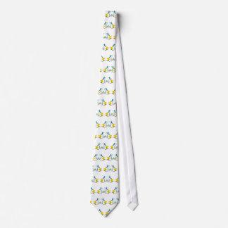 Blue & White Hummingbirds Tie