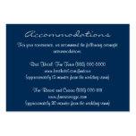 Blue White Insert Reception & Accommodation Cards