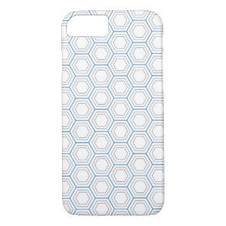 Blue & White iPhone 7 Case/Skin (with Gradient) iPhone 7 Case