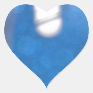 Blue White Light Effects Heart Sticker