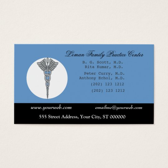 Blue White Medical Doctor Appointment Business Card