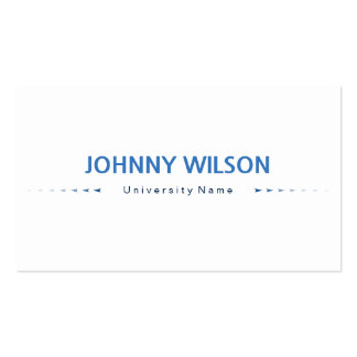 Blue & White Minimalist Graduate Student Pack Of Standard Business Cards