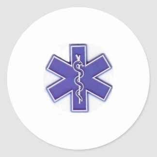 blue white number two round sticker
