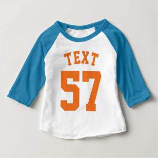 Blue White & Orange Baby | Sports Jersey Design T Shirt