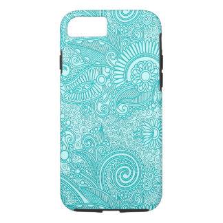 Blue & White Ornate Vintage Floral Paisley iPhone 7 Case