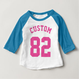 Blue White & Pink Baby | Sports Jersey Design Tees