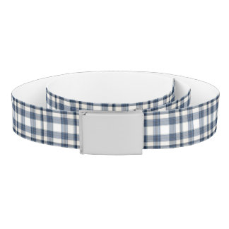 Blue White Plaid 1 Belt