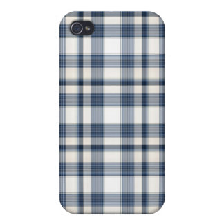 Blue White Plaid 1 iPhone 4/4S Covers