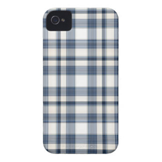 Blue White Plaid 1 iPhone 4 Case-Mate Case