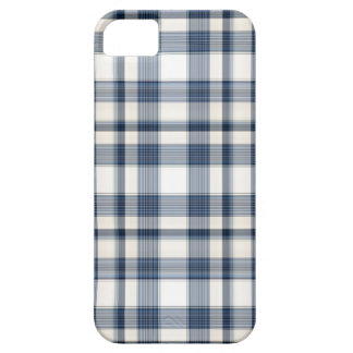 Blue White Plaid 1 iPhone 5 Cover