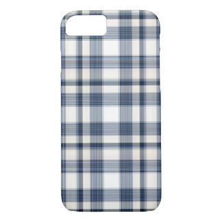 Blue White Plaid 1 iPhone 8/7 Case