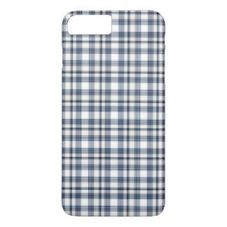 Blue White Plaid 1 iPhone 8 Plus/7 Plus Case