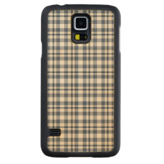 Blue White Plaid 1 Maple Galaxy S5 Case