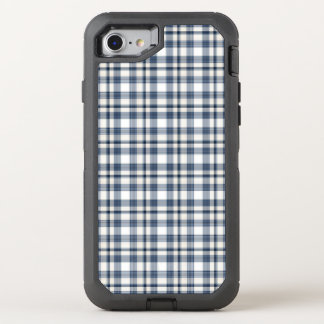 Blue White Plaid 1 OtterBox Defender iPhone 8/7 Case