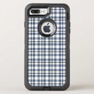 Blue White Plaid 1 OtterBox Defender iPhone 8 Plus/7 Plus Case