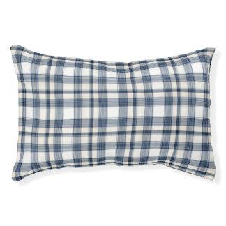 Blue White Plaid 1 Pet Bed