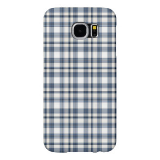 Blue White Plaid 1 Samsung Galaxy S6 Cases