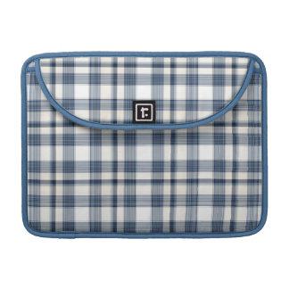 Blue White Plaid 1 Sleeves For MacBooks