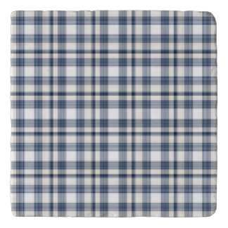 Blue White Plaid 1 Trivet